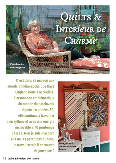 Magazine n 102 quiltmania editions for Magazine interieur