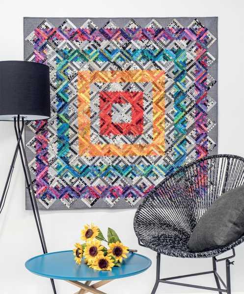 Mieke Duyck-Making Happy Quilts - modèle et patron quilt -Log cabine fever