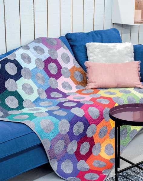 Mieke Duyck-Making Happy Quilts - modèle et patron quilt -Magic circles