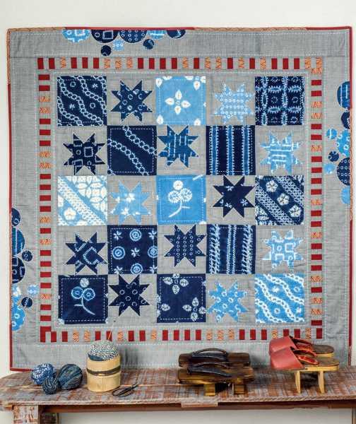Mieke Duyck-Making Happy Quilts - modèle et patron quilt -Shibori