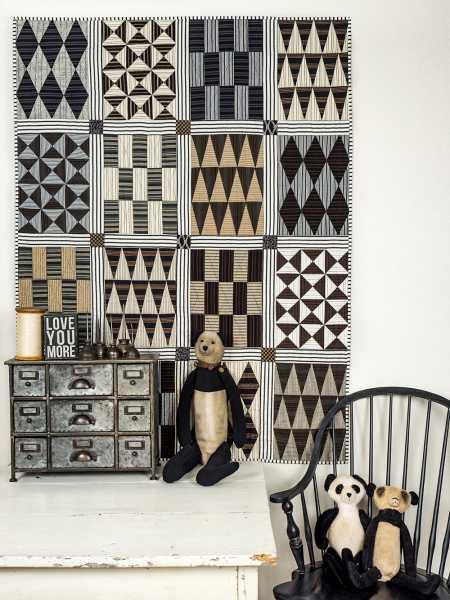 Pamela Goecke Dinndorf-Parallel Lines-modèle et patron quilt - African Santus