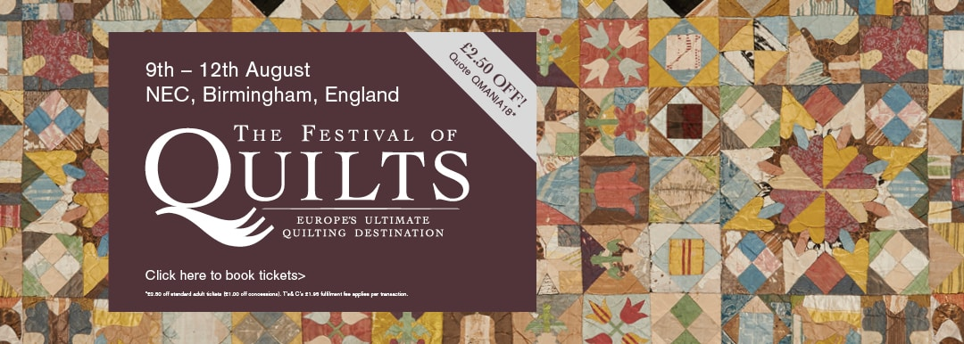 Quiltmania Web banner Festival of Quilts birmingham 2018
