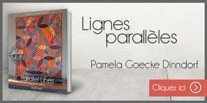 Bannière Web Pamela Goecke Dinndorf Lignes Parallèles Parallel Lines nouveau livre sur le quilt et le patchwork par Quiltmania