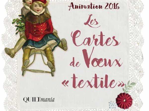 Cartes de voeux textiles Noël 2016