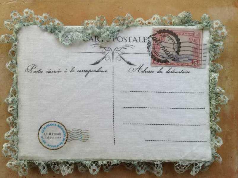 carte de voeux textile n°10 verso par Béatrice