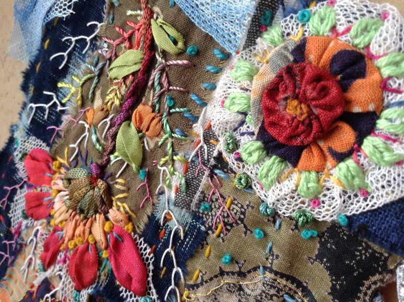 Carte de voeux textile n°9 détail