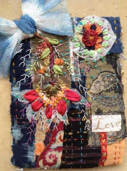 Carte de voeux textile n°9 recto
