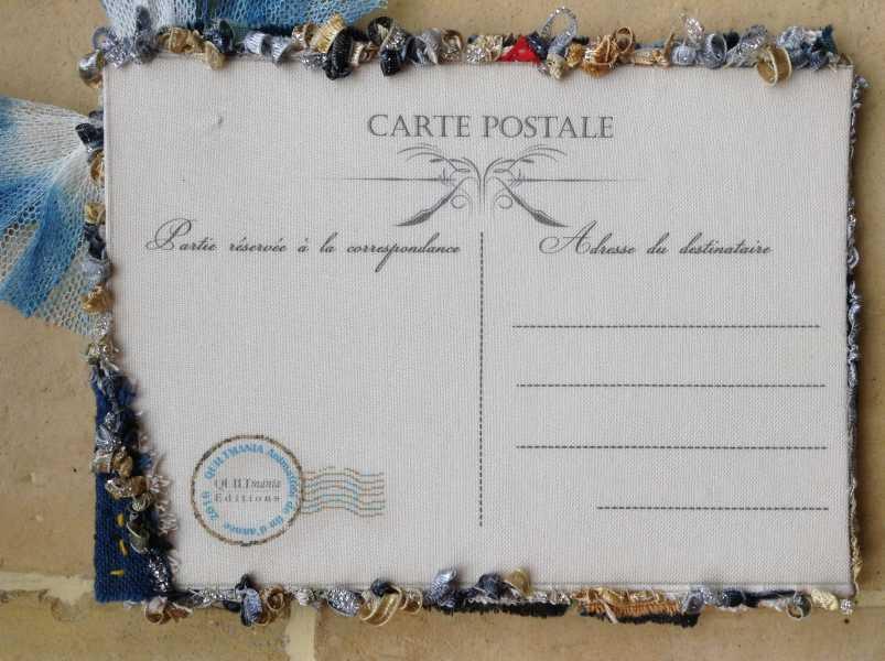 Carte de voeux textile n°9 verso