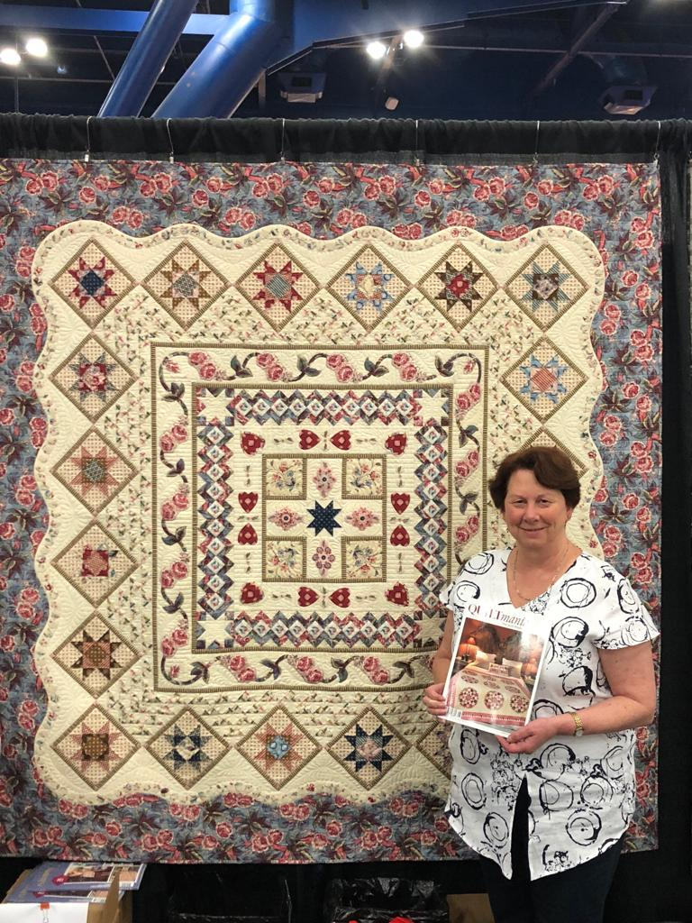 """""""2018 Quilt Mystère Bathwick"""" Free Pattern designed by Karen Styles from Quilt Mania"""