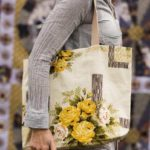 SAC TOTE BAG ELLA BLUE JAUNE YELLOW