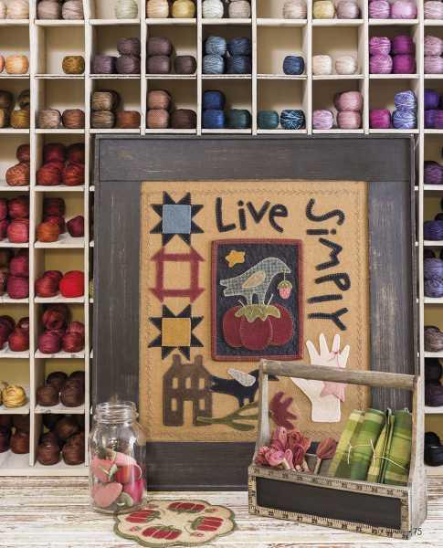 Seasons at Buttermilk Basin - Ete-Summer patterns-Vivez Simplement-Live Simply_Pique Aiguilles Tomate-Tomato Pincushion Mat