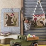 Seasons at Buttermilk Basin – Printemps-Spring pattern – pochette tulipe et lapin – tulip and bunny Pouch-mat – panneau – panel