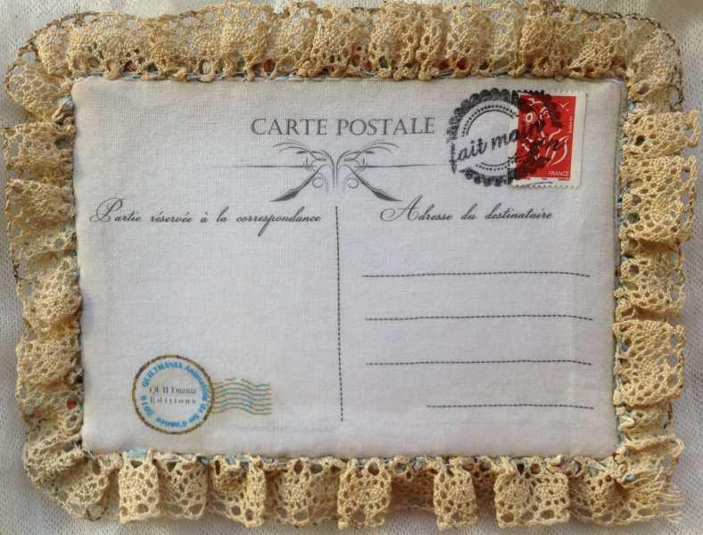 Carte de voeux textile n°3 verso de béatrice