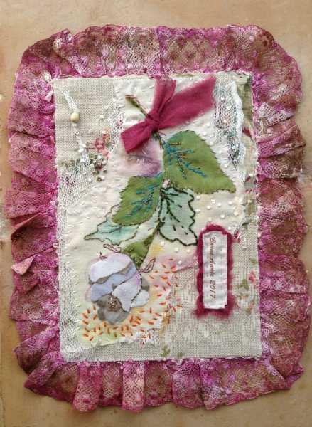 carte de voeux textile n°4 de Béatrice