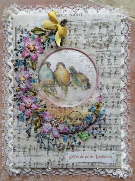 carte de voeux textile n°6 de béatrice