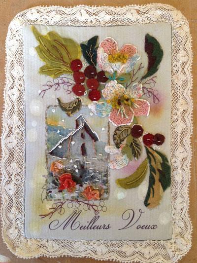 Carte de voeux textile 2016 n°1 Recto