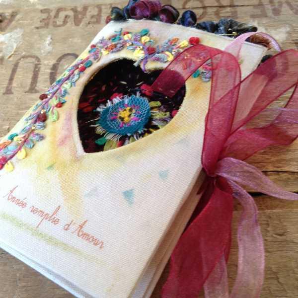 Carte de voeaux textile n°7 par Béatrice