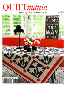 Couverture magazine patchwork Quiltmania 130