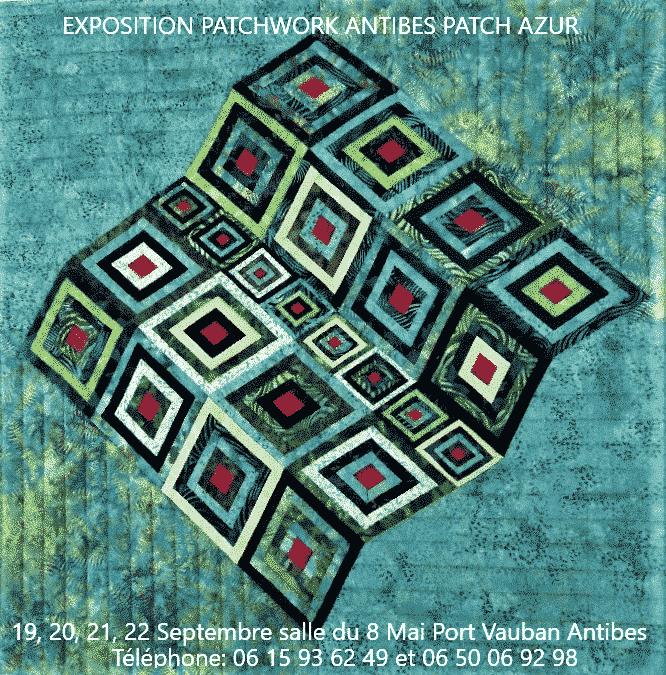 Exposition-ouvrages-de-patchwork-association-Antibes-Patch-Azur