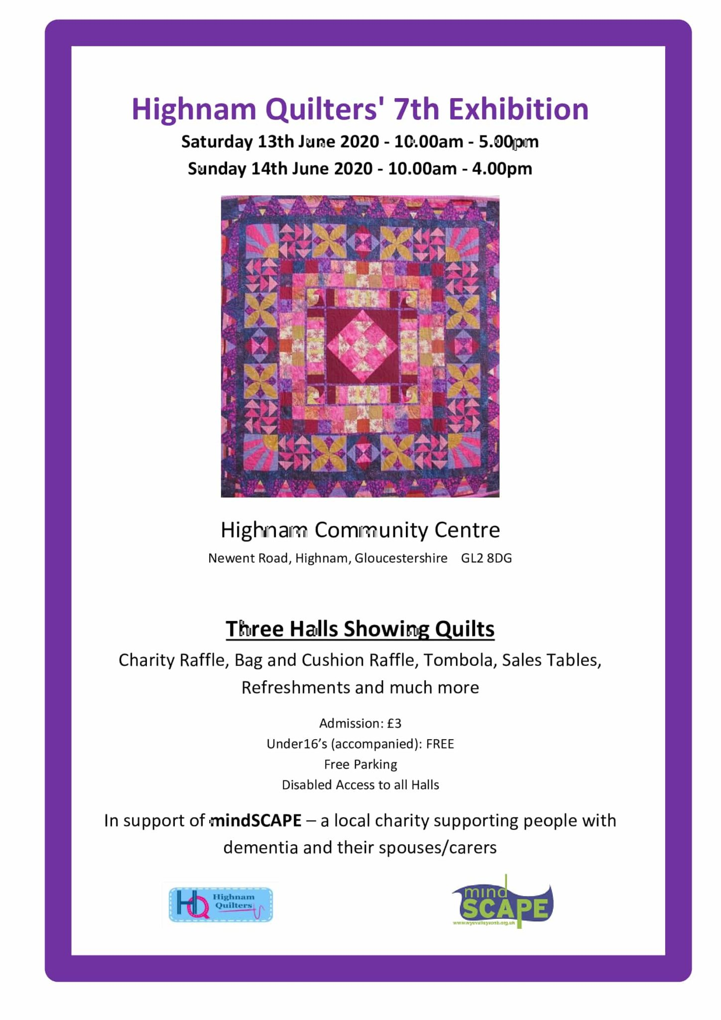 Highnam-Quilters-7th-Exhibition-poster-2020