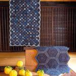 Etsuko-Ishitobi-The story of a rebirth-Petit quilt et hexagones rayés