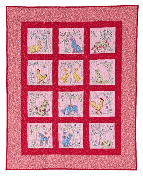 Quilt Applique Farmyard Animals_Rosie De Leon McCrady - Enfants Children 2020