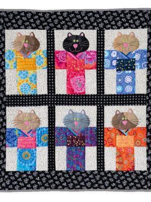 Quilt Cats In Kimonos_Barbie Jo Paquin - Enfants Children 2020