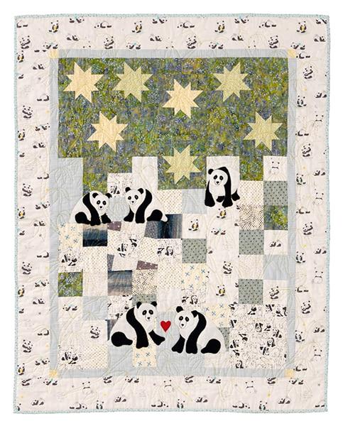 Quilt Pandas Under The Stars Jo Colwill - Enfants Children 2020