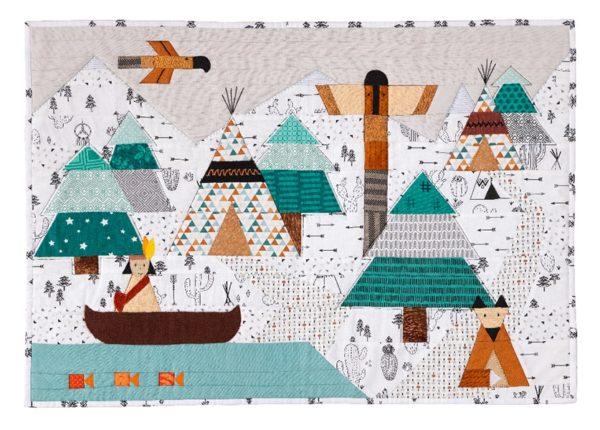 Quilt Petite Plume Anne-Marie Saudo appliqué patchwork - Enfants Children 2020