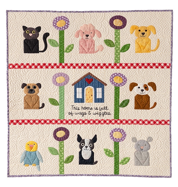 Quilt Wags And Wiggles_Kim Gaddy - Enfants Children 2020