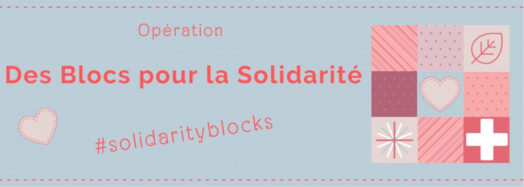 Bannière opération Des blocs pour la solidarité