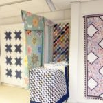 American quilts exhibition - picture of a Railfence quilt