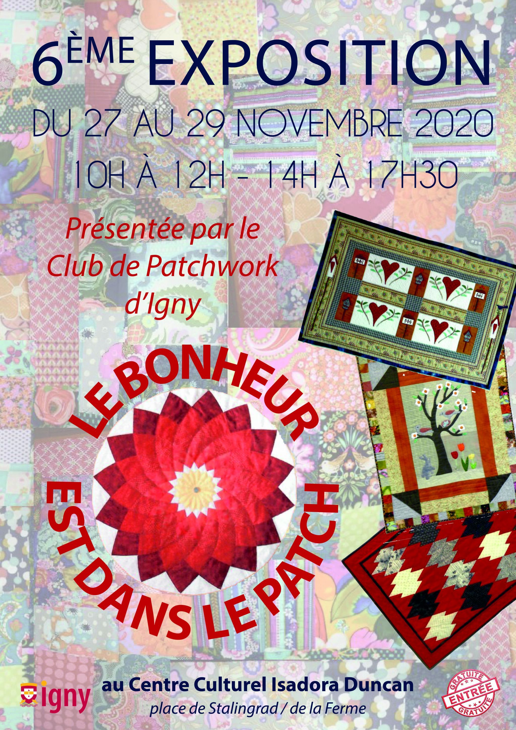 Affiche Patchwork Igny