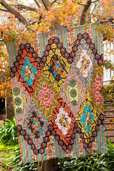 Quiltmania Magazine 139 - Bird Cage Coverlet_Kathy Doughty