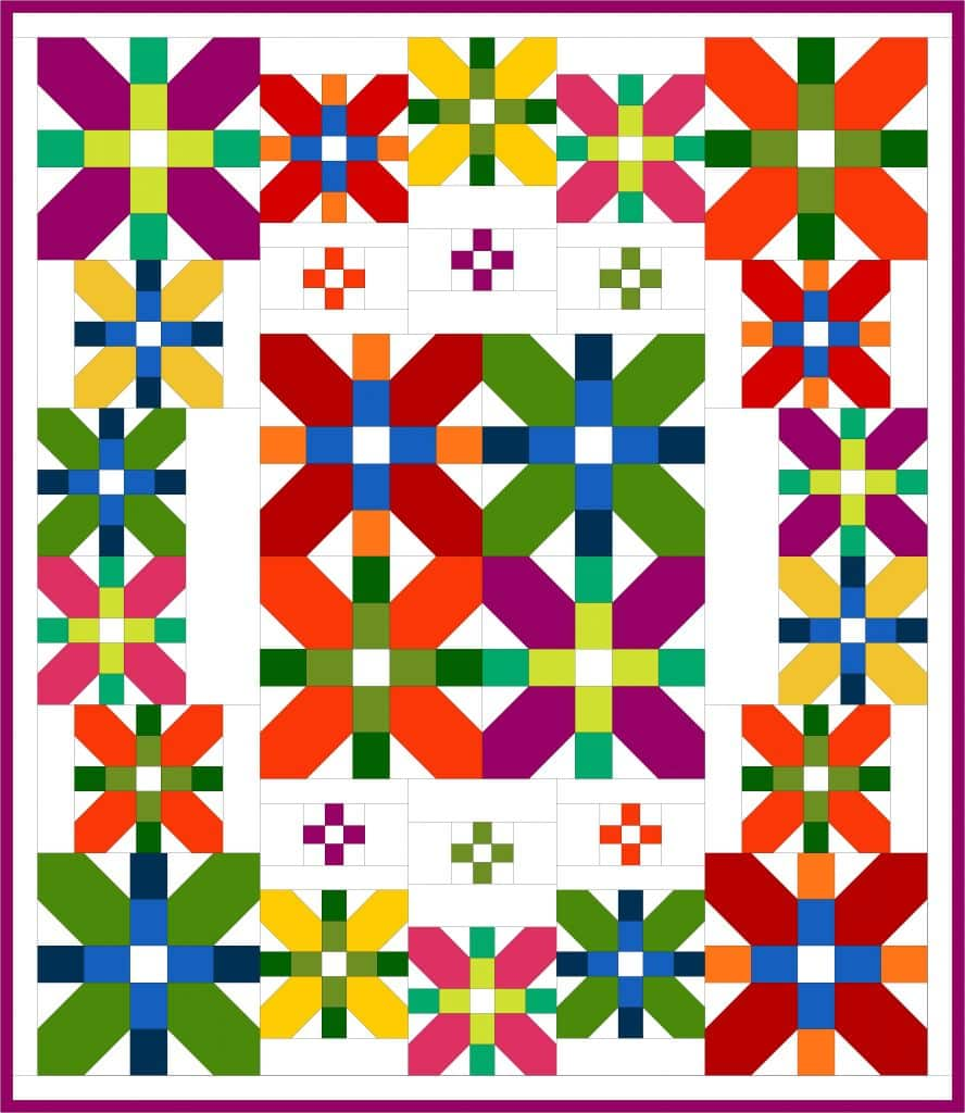 quilt coventry garden couleurs primaires