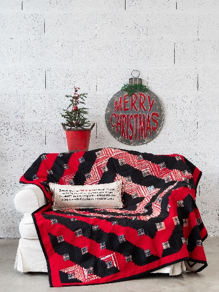 QM 140 - Christmas Sunshine quilt ancien de Carol Veillon