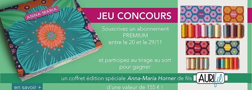 jeu concours Aurifil Anna Maria horner banniere
