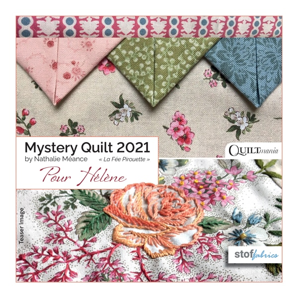 Mystery Quilt 2021 by Nathalie Méance of la Fée Pirouette
