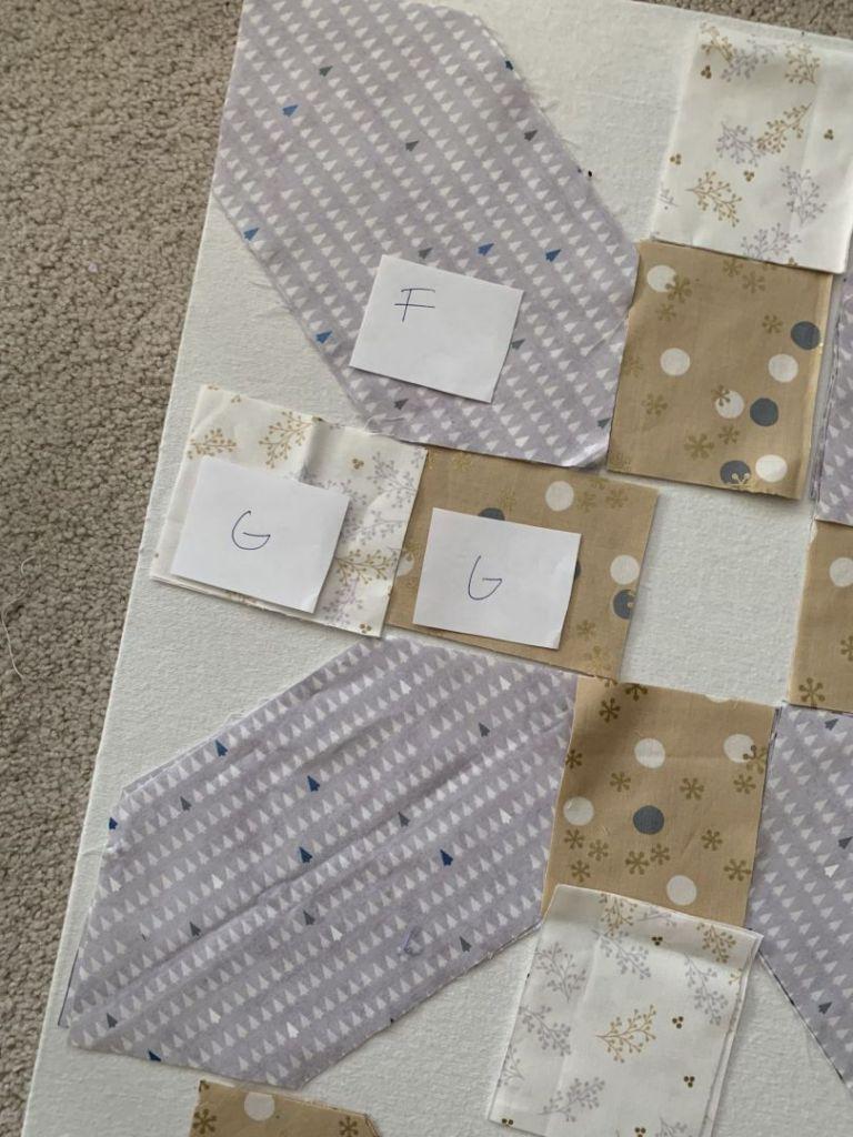 bloc B pièces étiquetées