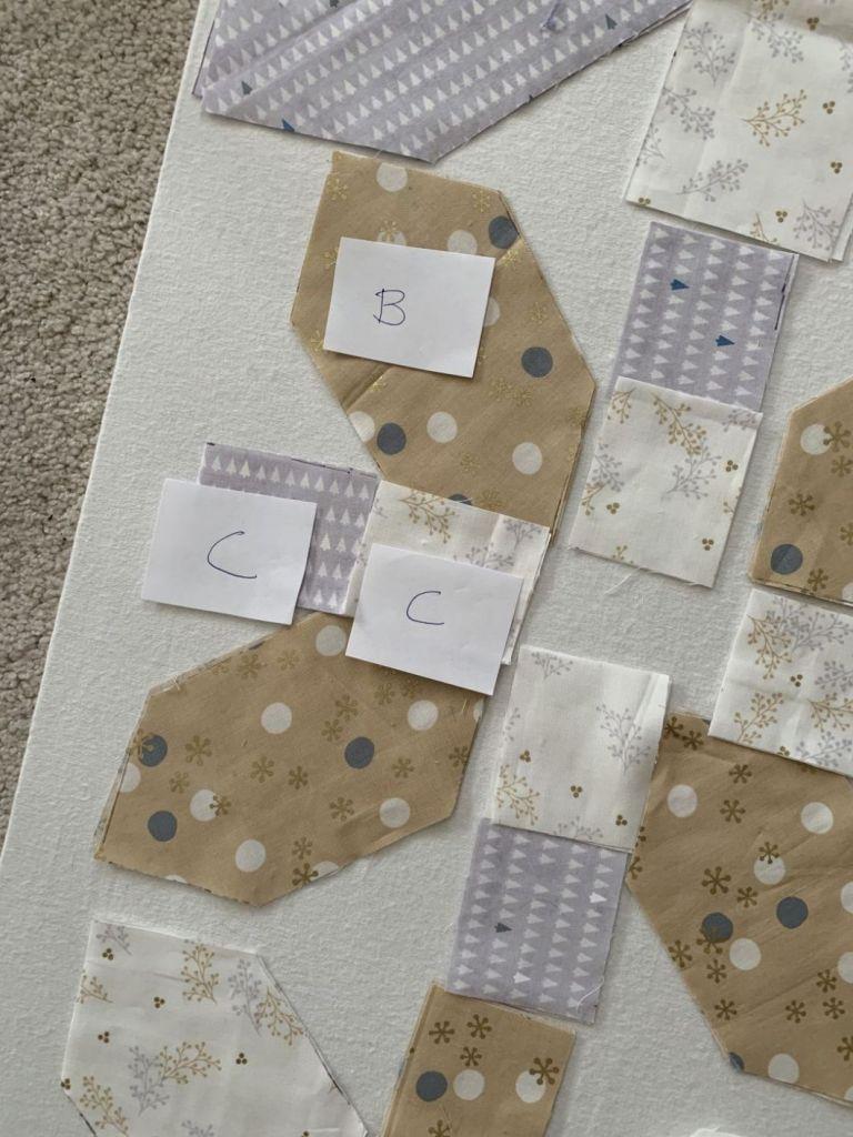 bloc A pièces étiquetées