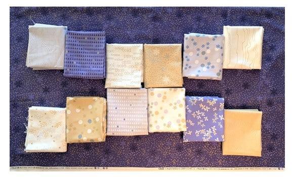 fabrics layed out