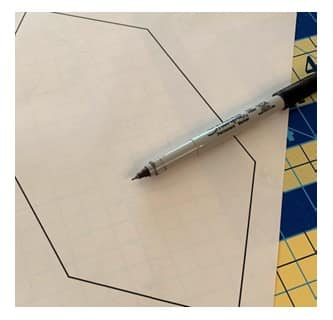 gabarit hexagone patchwork