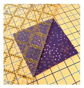 ruler on fabric