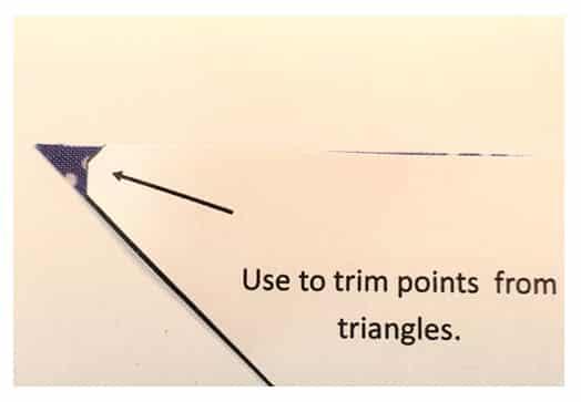 tutoriel couper triangle patchwork