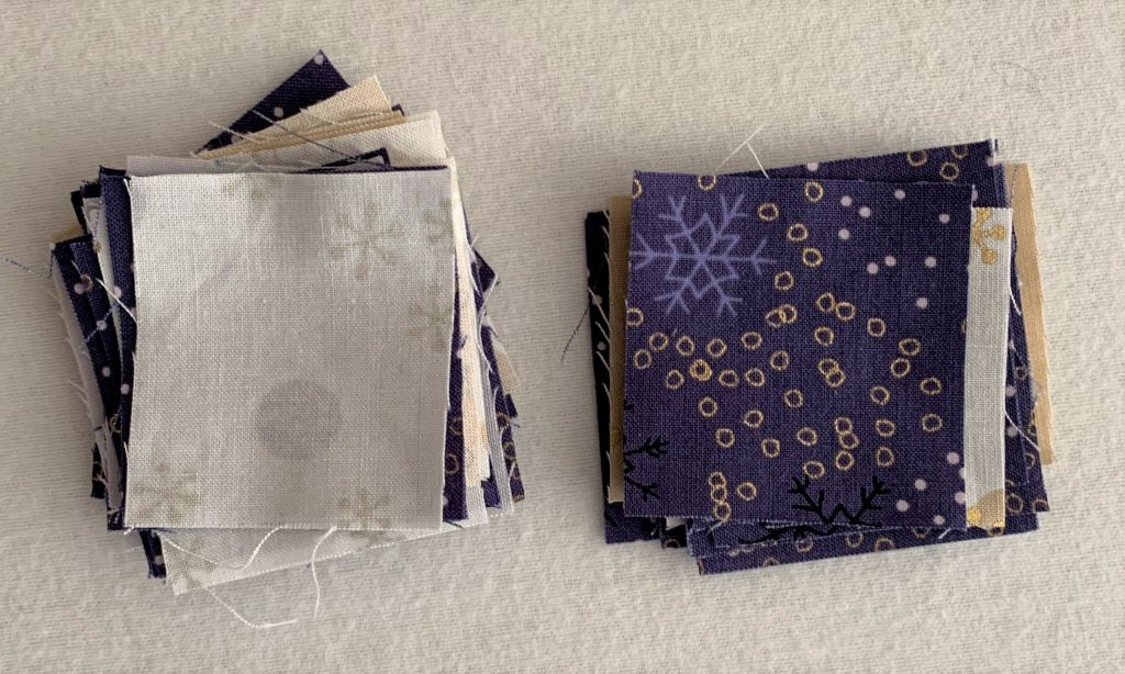 stacks of fabrics