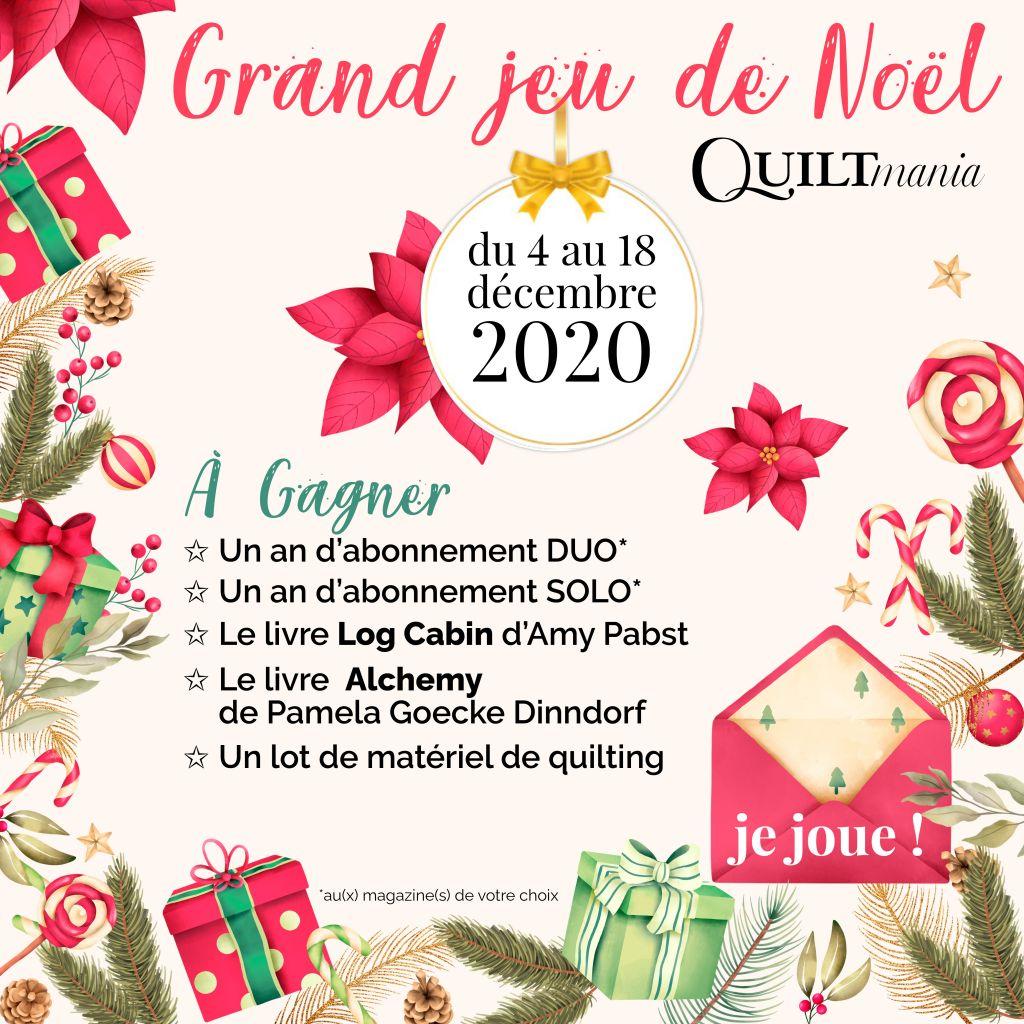 Grand jeu de Noël 2020 Quiltmania
