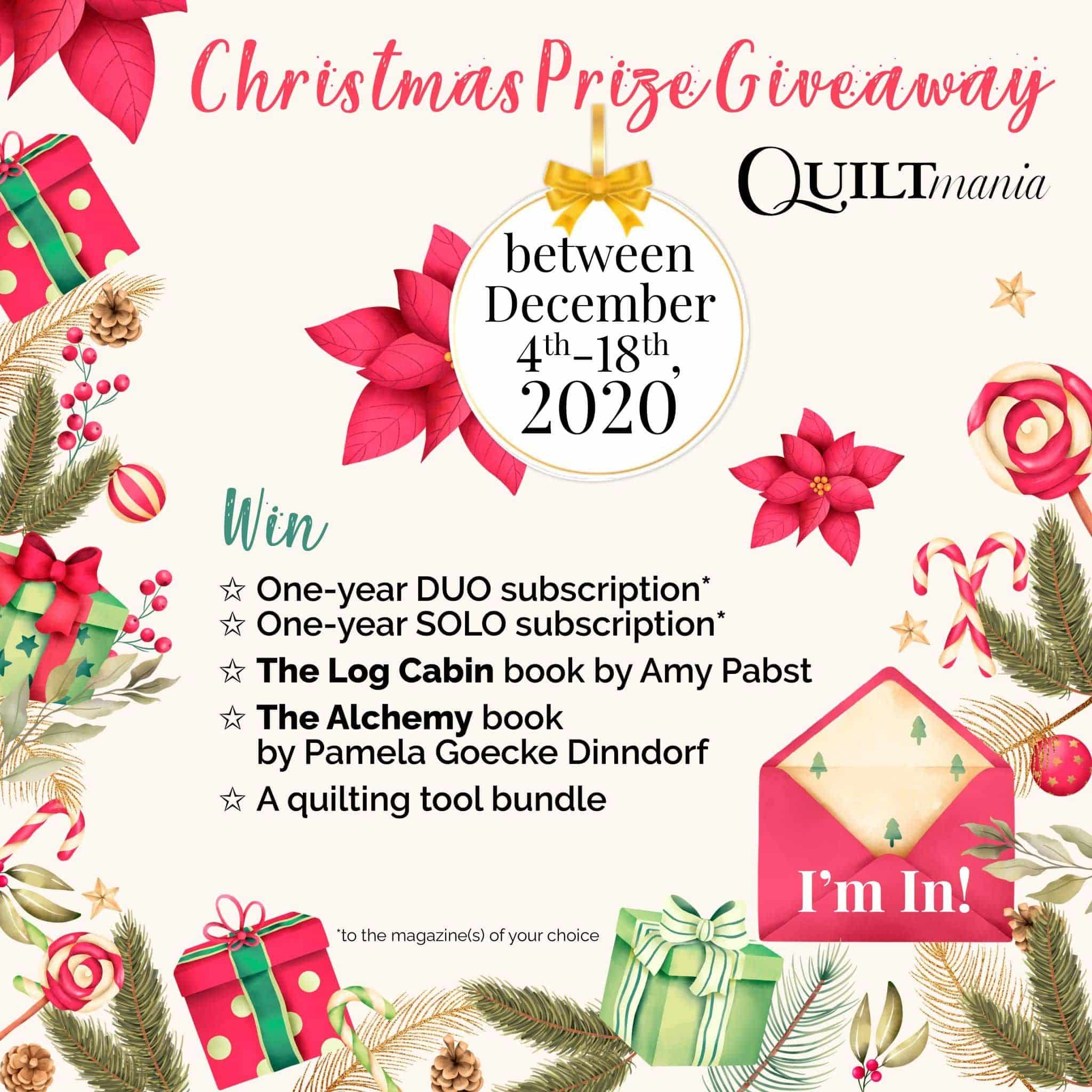 Christmas giveaway Quiltmania