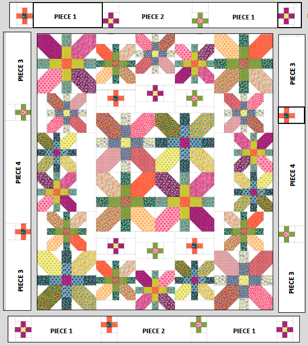 bordures quilt king:queen