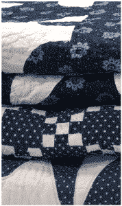 quilts blue and white