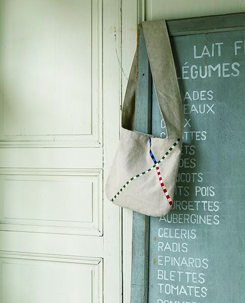 Emiko Takada-Simple Shoulder bag with eye-catching stripes-Urban Quilts-Suzuko Koseki